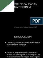 Control de Calidad en Mastografia. Dr. Barrera