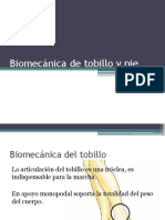 Biomecánica de Tobillo y Pie