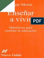Morin Edgar - Enseñar a Vivir OCR