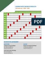 RMIT VN on-site Claim Service Calendar 2014