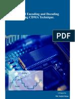Singnal Encoding and Decoding Using CDMA Technique