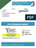 Ley Desarrollo Urbano