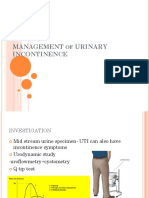 URINARY INCONTINENCE 2017