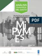 Analisis transversal del gasto en politicas de apoyo a emprendedores y MiPyMEs