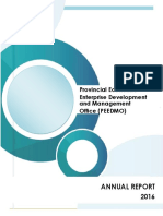 PEEDMO Accomplishment Report 2016