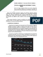 Importancia de La Mineria en Apurimac y en El Peru