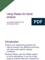 Using Mastan Frames