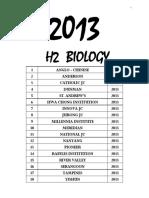2013 h2 Biology