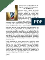 Consagración del género humano al Sagrado Corazón de Jesús prescrita por el Papa Pío XI