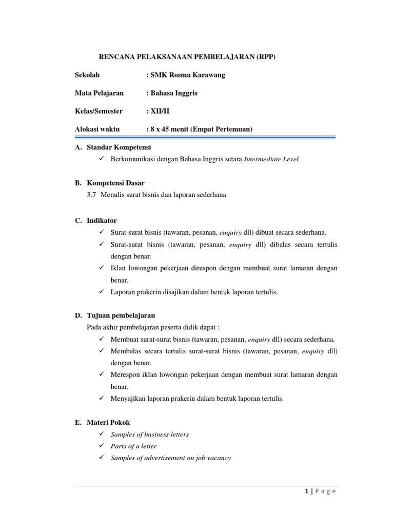 Contoh Laporan Prakerin Dalam Bahasa Inggris Kumpulan Contoh Laporan