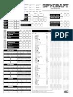 SPYCRAFT RPG Character Sheet