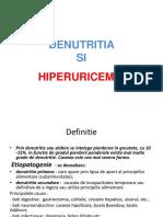 3denutritia Si Hiperuricemia - Curs 3 Nutritie, 30.03.2016