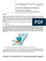 Review paper on friction stir welding of various material
