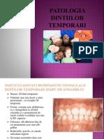 Patologia dintilor temporari