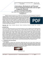 Study on Flame Retardancy, Mechanical, and Thermal Property on Epoxy Based Aluminium Hydroxide and Aerogel Composite Material