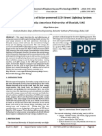 Cost Benefits of Solar-powered LED Street Lighting System Case Study-American University of Sharjah, UAE