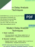 Modern Delay Analysis Techniques