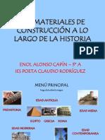 Los Materiales de Construcción a lo largo de la Historia