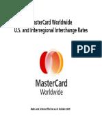 MasterCard Interchange Rates and Criteria
