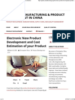 Electronic Product Development_ Manufacturing Cost Estimation