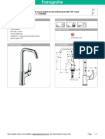31609000 Hansgrohe Product Specification 2016-01-20