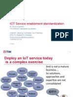 IOT Service enablement standardization