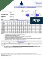 Data Sheet 30 – Fig Tb705 Basket (Top Hat) Strainer