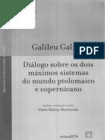 Diálogo Sobre Os Dois Máximos Sistemas Do Mundo Ptolomaico e Copernicano - Galileu Galilei