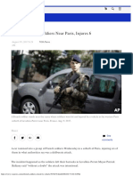 Car Hits French Soldiers Near Paris, Injures 6