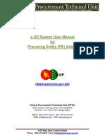 E-GP System User Manual - PE Admin