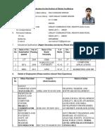 Application Form Ravi Shankar Mishra