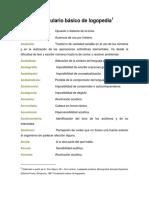 Vocabulario Básico de Logopedia Word