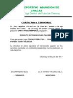 Carta Pase de Chacas (1)
