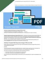 Membuat Template Web Responsive Dengan HTML Dan CSS - Malas Ngoding