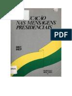 MEC. Educação nas mensagens presidenciais.pdf