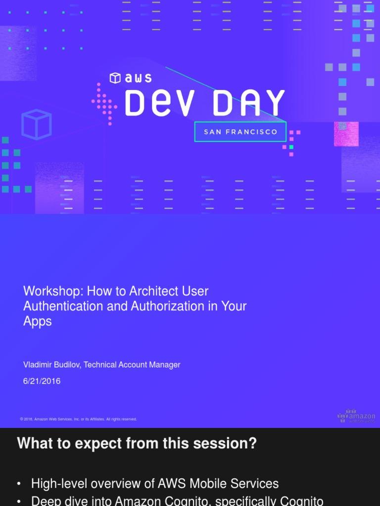 AWS_Dev_Day pdf | Amazon Web Services (16 views)