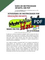 ATIVIDADES DE MOTRICIDADE INFANTIL EM PDF.pdf