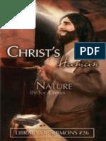 Christ's Human Nature - Joe Crews