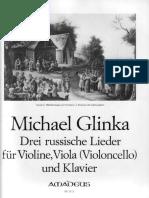 Glinka Drie Russische Lieder Piano