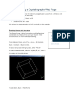 Guide to Making a Crystallography Web Page