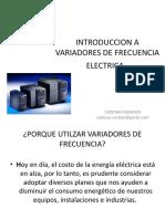 Introduccion a Variadores de Frecuencia Electrica