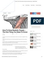 How to Draw Realistic People - How to Draw Anatomy Tutorials _ My Drawing Tutorials - Art Made Simple!