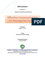 Effective Communication for Managerial Success