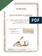 Afiche Convocatoria a Poetas 2016 (Taller Musikahuin)