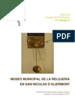 Museo Municipal de La Relojeria en San Nicolas d Aliermon 2t