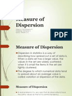 Measure of Dispersion