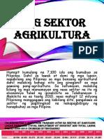 Ang Sektor Agrikultura