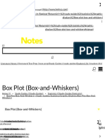Box Plot (Box and Whiskers)