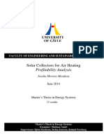 Solar Collectors for Air Heating