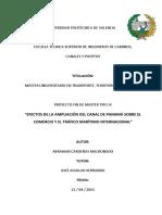 Efectos de La Ampliaciòn Del Canal de Panamà Sobre El Comercio y El Tràfico Marìtimo Internacional
